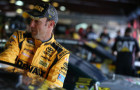 Matt Kenseth, driver of the #20 DeWalt Toyota, stands in the garage area during practice for the NASCAR Sprint Cup Series CampingWorld.com 500 at Talladega Superspeedway on October 23, 2015 in Talladega, Alabama. - Photo Credit: Patrick Smith/Getty Images