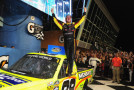 Matt Crafton, driver of the #88 Ideal Door/Menards Toyota, celebrates in Victory Lane after winning the NASCAR Camping World Truck Series Ford EcoBoost 200 at Homestead-Miami Speedway on November 20, 2015 in Homestead, Florida. - Photo Credit: Jeff Curry/Getty Images